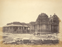 Side or end view of Panchalinga Temple, Huli, Belgaum District